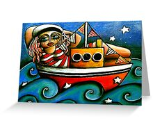 Sailor Girl Greeting Card
