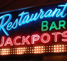 restaurant bar jackpots by Rae Stanton