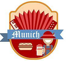 Munich Germany Retro Badge by junkydotcom