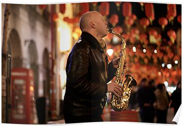 Saxophone in Chinatown by Alastair Humphreys