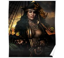 Heads You Lose! Pirate Art print & Card Poster