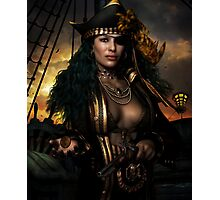 Heads You Lose! Pirate Art print & Card Photographic Print