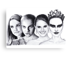 The Many Faces of Natalie Portman Canvas Print