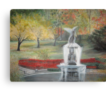 Central Park in  Fall  at the Bethesda  Fountain      ( My Paintings ) Canvas Print