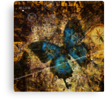 Contemplating the Butterfly Effect Canvas Print