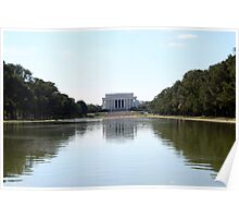 Reflections on Lincoln Memorial Poster