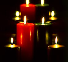 Lighted Christmas Candles (5)  by SteveOhlsen