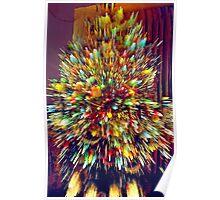 Lighted Christmas Tree (3) - Digitally Altered Poster