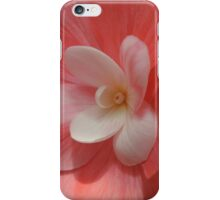 Begonia in Soft Shades of Red iPhone Case/Skin