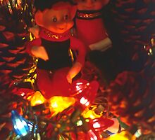 Still Life of Christmas Pixies, or Elves by SteveOhlsen