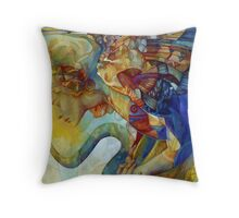 rainbow harpy Throw Pillow