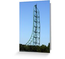 Kingda Ka - Worlds Tallest and Fastest Roller Coaster Greeting Card