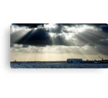 River Mersey and sunbeams Canvas Print