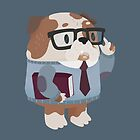 Smart Bulldog Character by Claire Stamper
