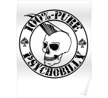 Pure Psychobilly - Black Stamp Poster