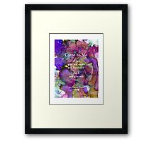 Help for All Life Problems Framed Print