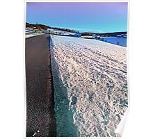 Winter wonderland, country road, vivid colors | landscape photography Poster