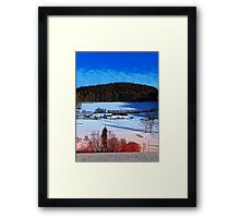 A sunny afternoon in winter wonderland | landscape photography Framed Print