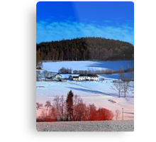 A sunny afternoon in winter wonderland | landscape photography Metal Print