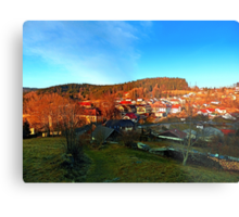 Village skyline in twilight | landscape photography Metal Print