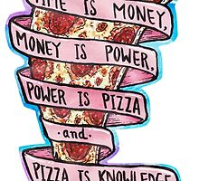 Pizza is Knowledge CutOut by taliaAF