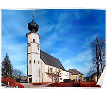 The village church of Sankt Veit / Mkr II | architectural photography Poster