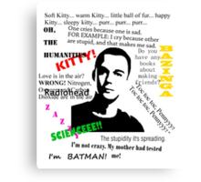Sheldon Cooper, The Big Bang Theory. Canvas Print