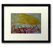 Through the wire Framed Print