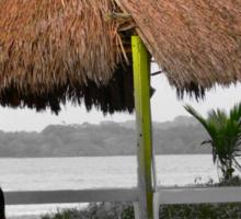 Warmth And Protection In Bocas Del Toro, Panama Sticker
