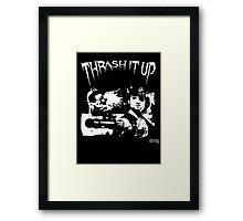 Thrash Snake B&W Framed Print