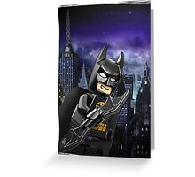 "Lego Batman ""Relax everybody I'm here"" Greeting Card"