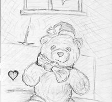 Lovely Teddy Bear Card by Marko Palm