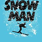 Snowman Après-Ski Design for Skiers by theshirtshops