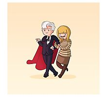 Adventure Time and Space! 3rd Doctor Photographic Print