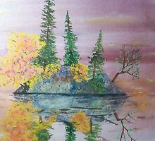 Three Pine Island by Jack G Brauer