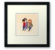 Adventure Time and Space! 10th Doctor Framed Print