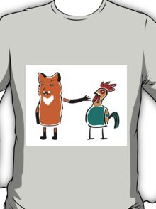 Sinister fox and suspicion rooster T-Shirt