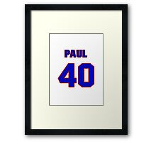 National baseball player Paul Boris jersey 40 Framed Print