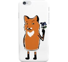 Fox with Flower iPhone Case/Skin