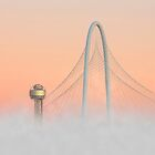 Dallas Skyline Images - Fog in the City by RobGreebonPhoto