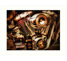 Harley Davidson Engine Art Print