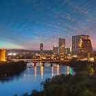 Austin Texas Skyline in the Evening 1 by RobGreebonPhoto