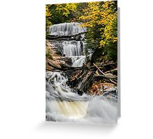 Sable Falls Cascade Greeting Card