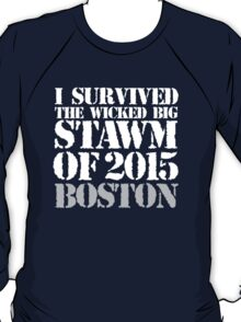 Original 'I Survived the Wicked Big Stawm of 2015 Boston' T-shirts, Hoodies, Accessories and Gifts T-Shirt