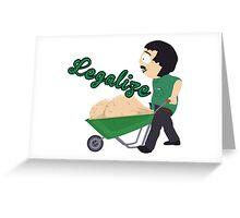 Legalize Marijuana, Randy Marsh South Park style Greeting Card