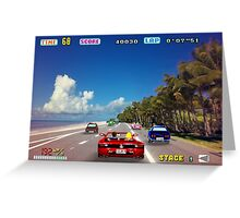 Outrun retro pixel art Greeting Card