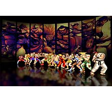 Street Fighter II pixel art Photographic Print
