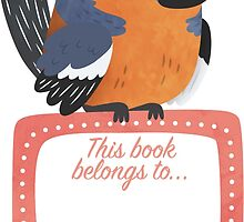 Cheery Chaffinch Book Plate by Claire Stamper