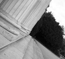 Columns at Shugborough Hall by Justine Humphries