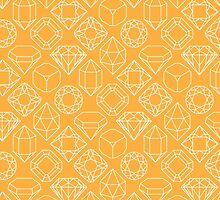Diamond Gem Shape Outline YELLOW by ISLWMP